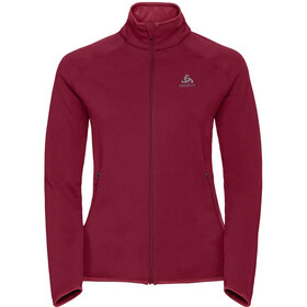 Odlo Carve Warm Midlayer Dames rood
